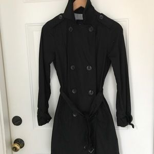Gap Black Light Weight Cotton Trench Coat xs